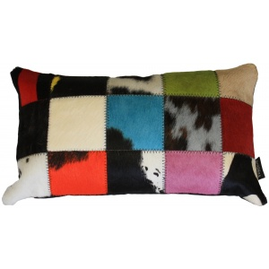coussin rectangle vache multicolore