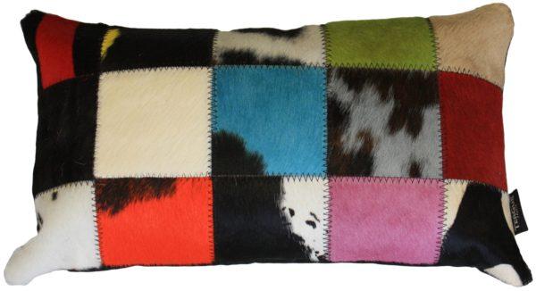 coussin rectangle vache multicolore