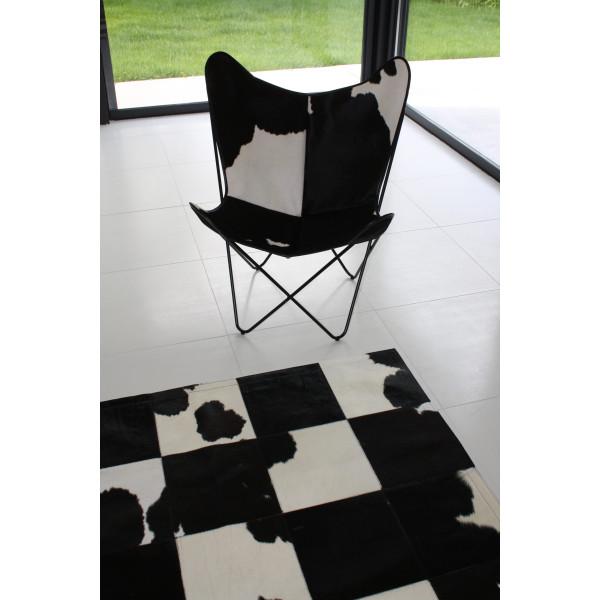 tapis vache noir et blanc