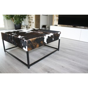 table basse peau de vache normande