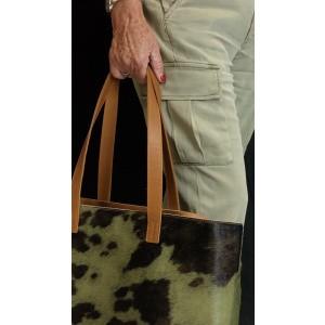 sac cabas en peau de vache