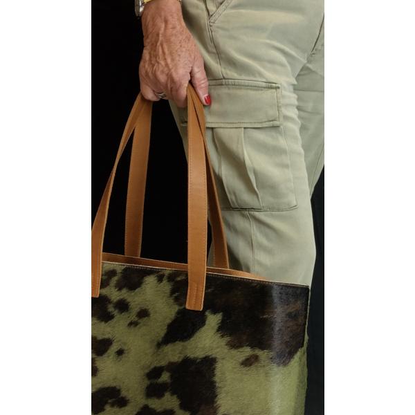sac en peau de vache camouflage