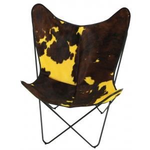 fauteuil vache normande jaune
