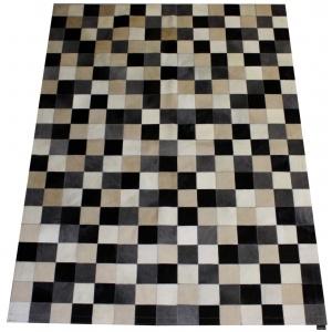 tapis patchwork vache mixte gris