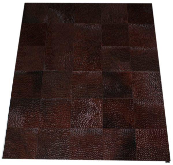 tapis vache pressé croco chocolat