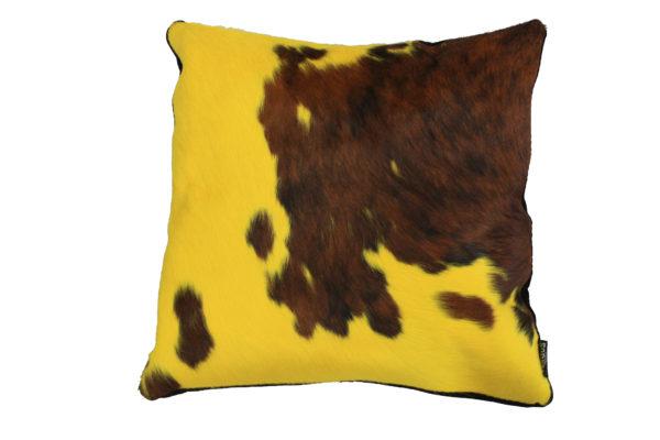 coussin vache normande jaune
