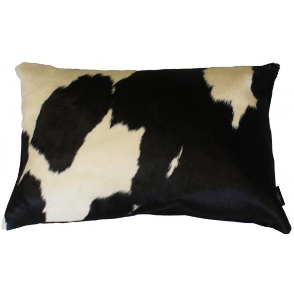 coussin rectangle vache noir et blanc
