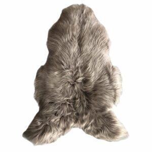 peau de mouton taupe poil long