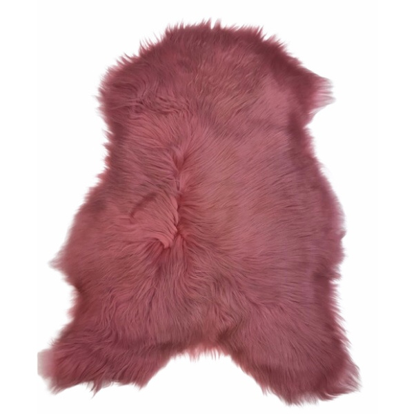 peau de mouton rose poil long