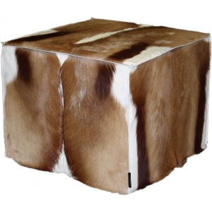 pouf springbok naturel