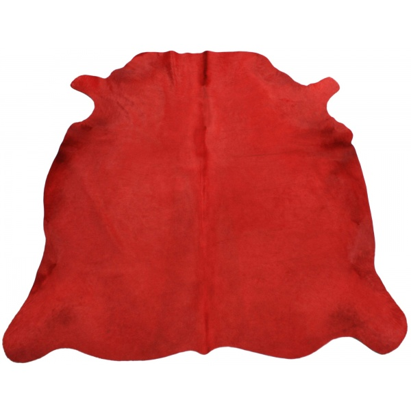 peau de vache rouge unie