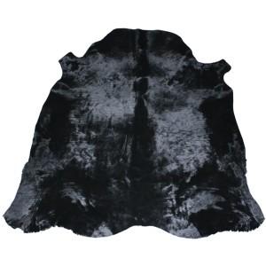 peau de vache noire unie