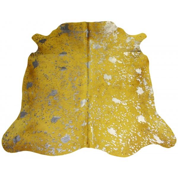 peau de vache jaune acide argent