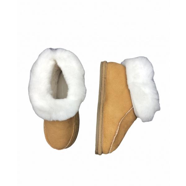 chaussons en peau de mouton enfant