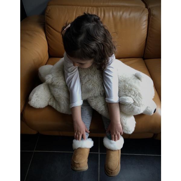 chaussons enfant peau de mouton