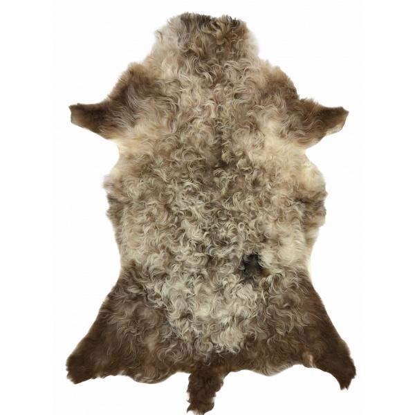 peau agneau du bearn marron