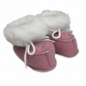 chaussons bebe en peau de mouton