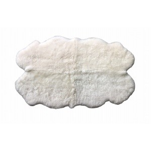 tapis peau de mouton quarto blanc