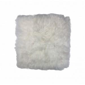 galette en peau de mouton blanc