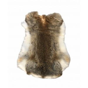 peau de lapin naturelle