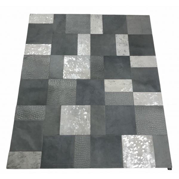 tapis vache mixte gris