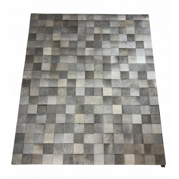 tapis peau de vache patchwork naturel