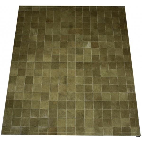 tapis patchwork vache kaki uni