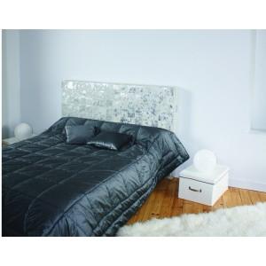 tete de lit vache patchwork acide
