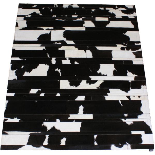 tapis vache rayé noir et blanc