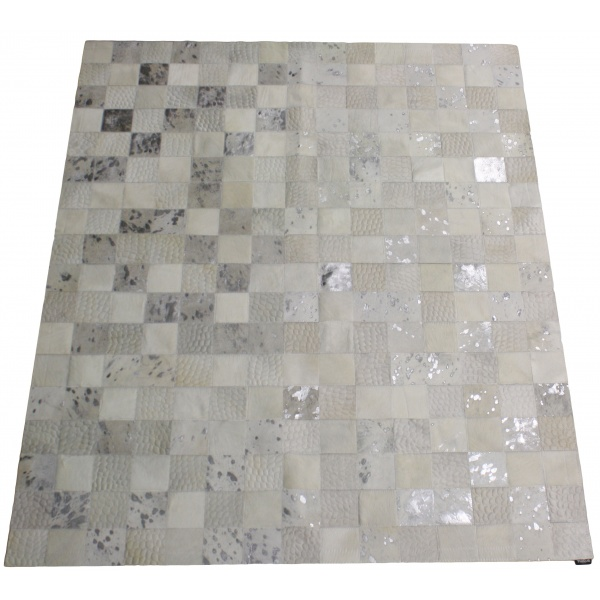 tapis patchwork vache blanc