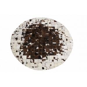 tapis en peau normande rond patchwork