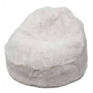 poire en peau de mouton blanc