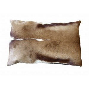 coussin rectangle peau de springbok naturel