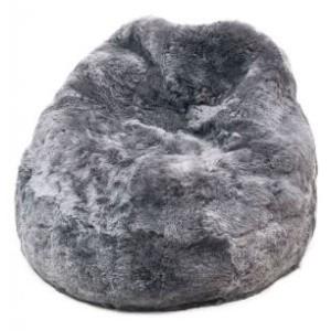 poire en peau de mouton grise