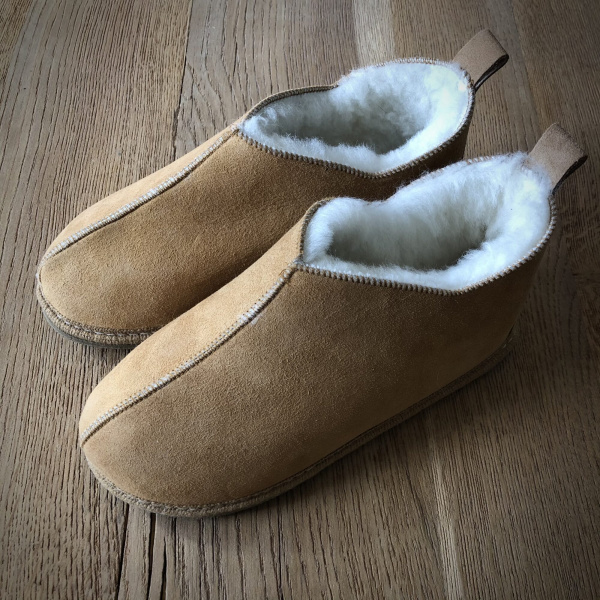 chaussons bottillon en mouton naturel