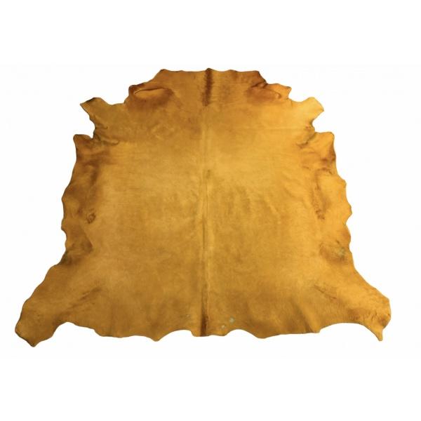 peau de vache jaune moutarde brut