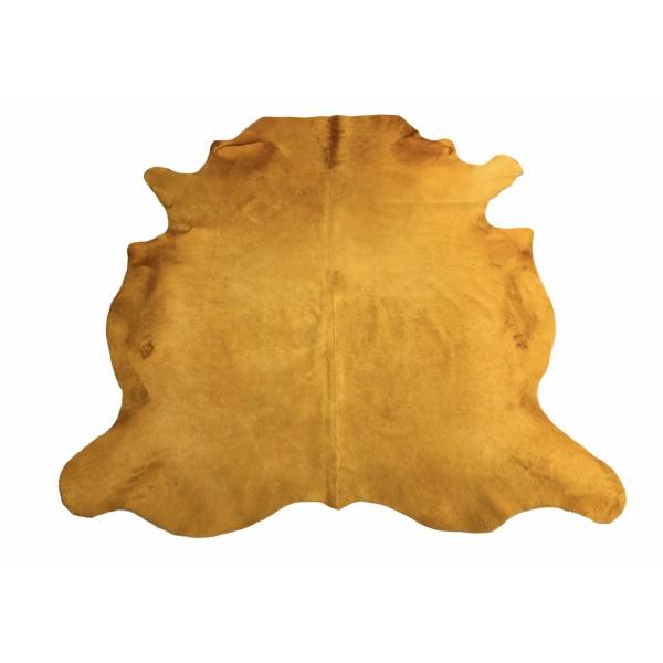 peau de vache jaune moutarde unie