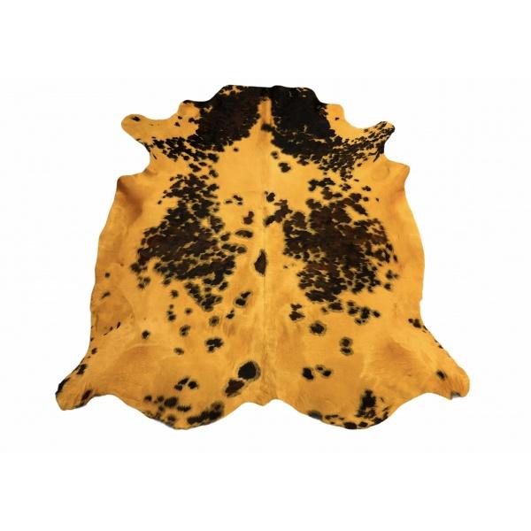 peau de vache normande jaune moutarde